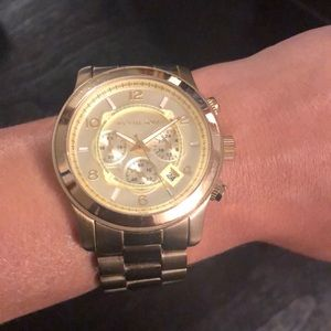 Gold Michael Kors Oversized Watch